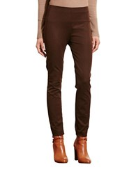 Lauren Ralph Lauren Stretch Cotton Skinny Pants Brown