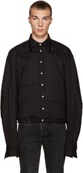 Hood By Air Black Puff Apron Shirt