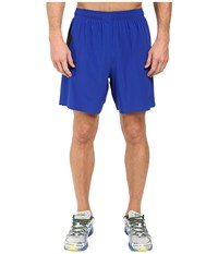 New Balance 7 Stretch Woven Short Marine Blue Black Men's Shorts