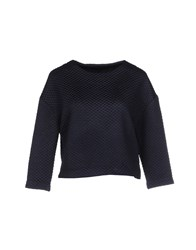 American Retro Topwear Sweatshirts Women Dark Blue