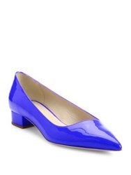 Giorgio Armani Patent Leather Pumps Black Blue