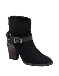 Aquatalia By Marvin K Fanya Suede And Leather Booties Blue