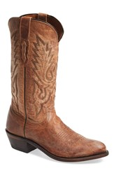 Lucchese 'Lewis' Western Boot Men Tan Mad Dog Goat