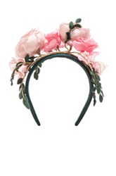 Maison Michel Betty Headband In Pink Floral