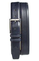 Men's Big And Tall Mezlan Leather Belt Blue