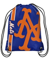 Forever Collectibles New York Mets Big Logo Drawstring Bag Blue