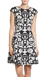 Vince Camuto Women's 'Blister' Knit Fit And Flare Dress