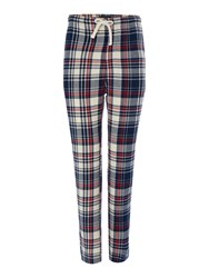 Howick Check Flannel Pyjama Pant Off White