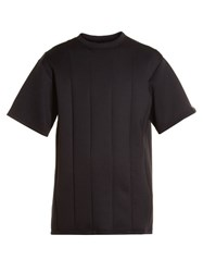 Y 3 Spacer Panelled Crew Neck T Shirt Black