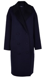 Tibi Luxe Double Faced Reversible Maxi Coat