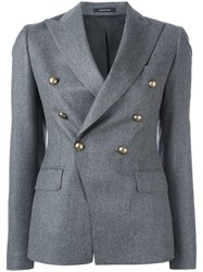 Tagliatore Double Breasted Jacket Grey