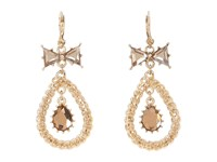 Betsey Johnson Iconic Summer Gem Orbital Earrings Topaz Earring Tan