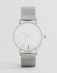 Asos Curve Silver Clean Mesh Strap Watch Silver