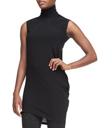 Donna Karan Sleeveless Long Turtleneck Top Women's