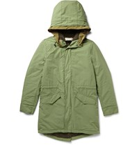 Remi Relief Padded Cotton Twill Parka Green