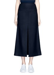 Acne Studios 'Pascal' Front Slit Felted Wool Blend Maxi Skirt Black