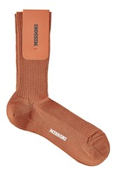 Missoni Wool Socks Orange