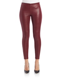 Guess Faux Suede Leggings Burgundy