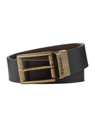 Barbour Reversible Leather Gift Boxed Belt Black