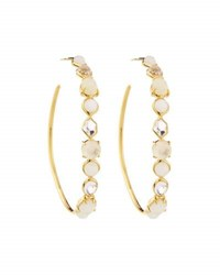 Ippolita 18K Rock Candy 4 Mini Gelato Hoop Earrings In Flirt White