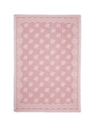 Franco Ferrari 'Evans Wash' Lace Print Wool Cashmere Scarf Pink