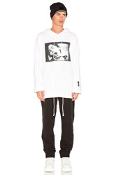 Fenty By Puma Long Sleeve Graphic Front Lacing Hoody White