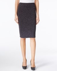 Calvin Klein Pull On Pencil Skirt Charcoal