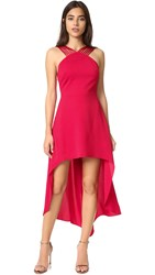 Halston Multi Strap Dress Carmine