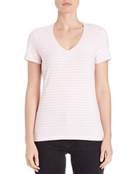 Lord And Taylor Petite Striped Stretch Cotton Tee Fairy Tale
