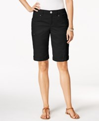 Styleandco. Style Co. Petite Cargo Shorts Only At Macy's Deep Black