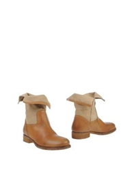 Manila Grace Ankle Boots Brown