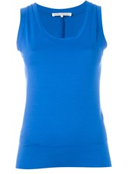 Stefano Mortari Plain Tank Top Blue