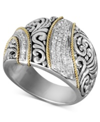 Effy Collection Balissima By Effy Diamond Ribbon Statement Ring 1 4 Ct. T.W. In 18K Gold And Sterling Silver
