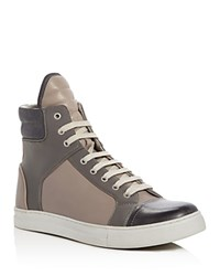 Kenneth Cole Double Header High Top Sneakers Gray