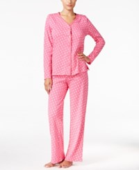 Charter Club Loop Trimmed Printed Pajama Set Only At Macy's Pink Dots