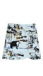 Tibi Forest Print Mini Skirt