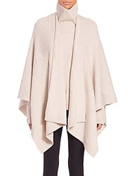 Rag And Bone Blithe Merino Wool Poncho Charcoal