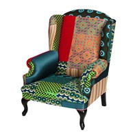 Desigual Patchwork Armchair Green