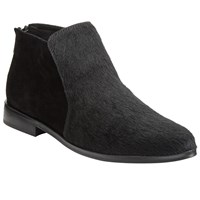 John Lewis Kin By Pala Pointed Toe Ankle Boots Black Hair On Hide