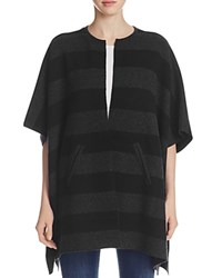 Eileen Fisher Oversized Reversible Stripe Cardigan Charcoal Black