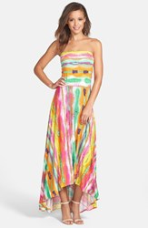 Women's Felicity And Coco Strapless Neon Print Maxi Dress Nordstrom Exclusive