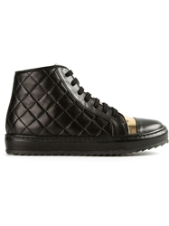 Thakoon Addition Quilted Hi Top Sneakers Black