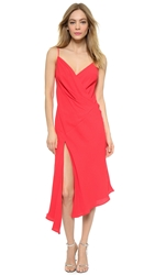 Nicholas Bias Wrap Drape Dress Poppy