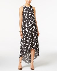 Cece By Cynthia Steffe Heart Print High Low Maxi Dress New Ivory