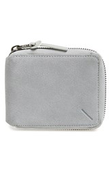 Saturdays Surf Nyc Men's Saturdays Nyc 'Scott Fz' Suede Zip Around Wallet Grey Slate