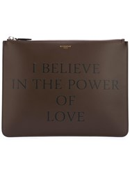 Givenchy Power Of Love Printed Clutch Brown