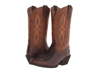 Ariat Round Up Square Toe Ii Acorn Tan Cowboy Boots Brown
