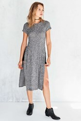 Silence And Noise Side Slit Maxi Tee Grey