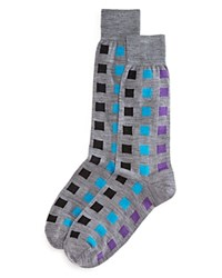 Bloomingdale's The Men's Store At Multi Square Socks Light Grey
