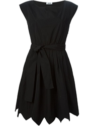 Moschino Cheap And Chic Belted A Line Dress Black